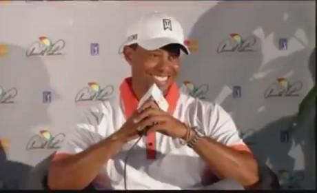 Tiger Woods Speaks on Lindsey Vonn