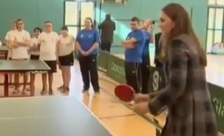 Kate Middleton Plays Ping-Pong