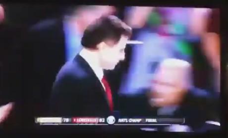 Rick Pitino Confetti Scare