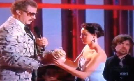 Aubrey Plaza Thanks Kanye West for MTV Movie Awards Inspiration