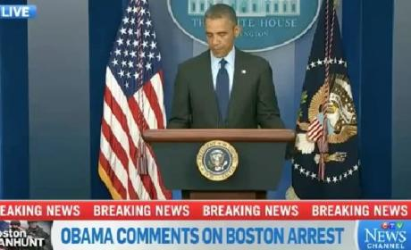 Obama on Boston Bombing Suspect Arrest