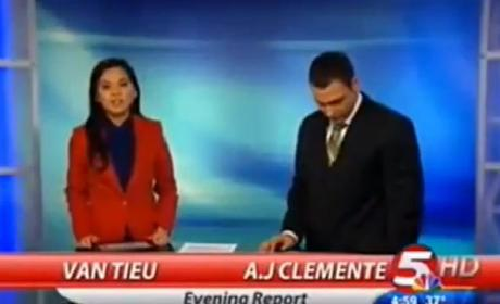 TV Anchor Suspended for Cursing on Air, Sucking