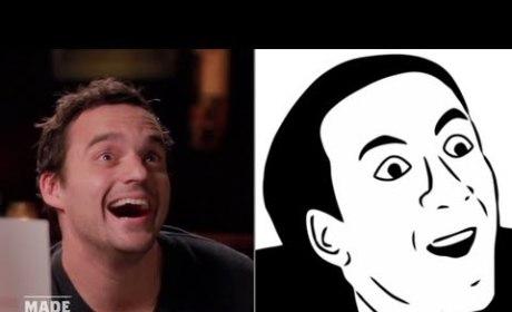 Jake Johnson Imitates Internet Memes