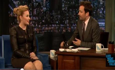 Demi Lovato on Late Night