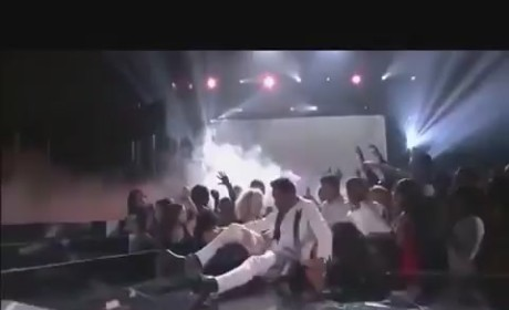 Miguel Jumps on Fans' Heads During Billboard Music Awards Performance