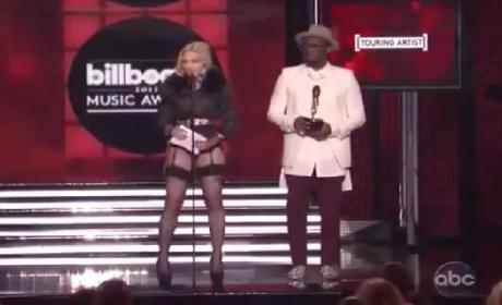Madonna Wins Top Touring Artist, Loses Pants at Billboard Music Awards