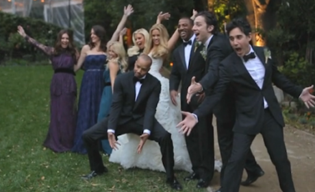 Donald Faison-CaCee Cobb Wedding Video: Zach Braff, Jessica Simpson & Co. Get Down!