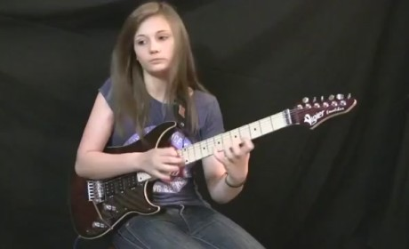 14-Year Old Takes On Van Halen Guitar Solo, Slays It