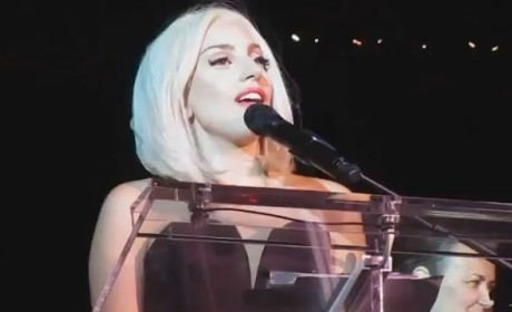 Lady Gaga Sings National Anthem at Gay Pride Parade