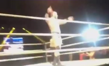Randy Orton Punched in the Balls