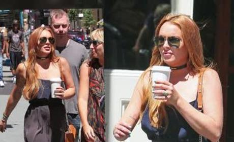 Lindsay Lohan Out, About in NYC