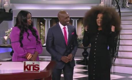 Kris Jenner Wears Afro Wig