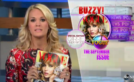 Carrie Underwood Co-Hosts Good Morning America, Delivers Pop News
