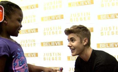 Justin Bieber Visits with Sick Fan, Breaks Make-A-Wish Record