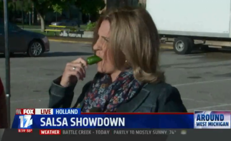 Reporter Eats Jalapeno on Air