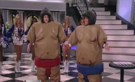 Khloe Kardashian Sumo Wrestles Kris Jenner on Lamest Talk Show Segment of All-Time