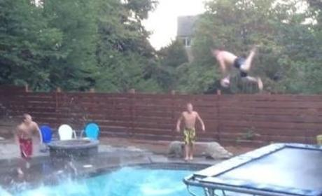 Incredible Swimming Pool Dunk