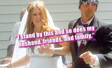 "Bride Walks Down Aisles to ""Crazy B-tch"""