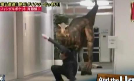 Japanese Game Show Pranks Office Workers with Giant Dinosaur: Watch Now!