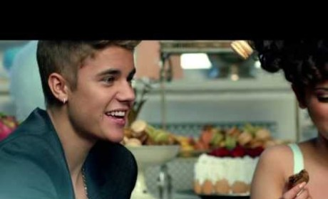 "Justin Bieber Juggles ""Macarons"" With Girl, Tells Fans to #UNLOCKTHEDREAM"