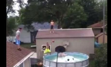 Triple Pool Alley-Oop Makes Viral Splash: Watch Now!