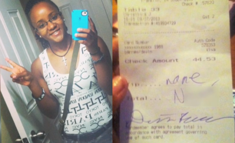 Red Lobster Waitress Receives Racist Note on Receipt; Story Goes Viral