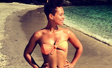 Alicia Keys Bikini Photo: Posted By Swizz Beatz!