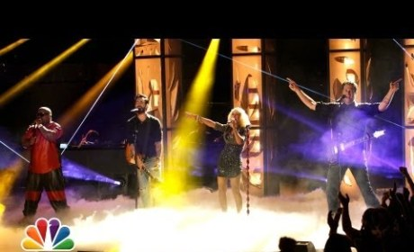 Christina Aguilera, Cee Lo Green, Adam Levine & Blake Shelton Perform on The Voice