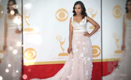 Kerry Washington Pregnant? Emmy Dress Sparks Speculation