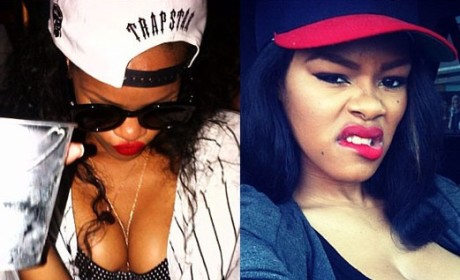"Teyana Taylor, Rihanna Feud on Twitter Over ""Caught Up in the Rapture"" Mockery"