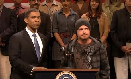 Aaron Paul Makes SNL Cameo; Jesse Pinkman Promotes Obamacare