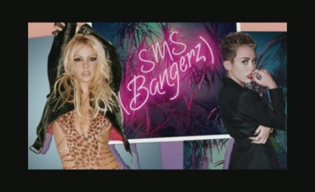 "Miley Cyrus and Britney Spears - ""SMS (Bangerz)"""