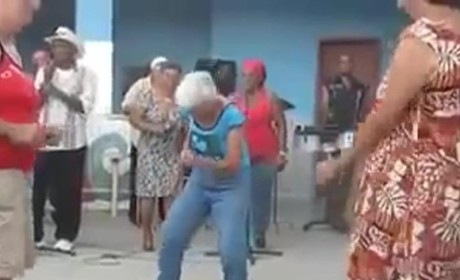 Sexy Granny Salsa Dances For Young Men