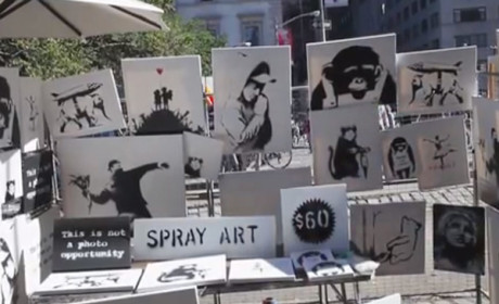 Bansky Sells Art for Crazy Cheap