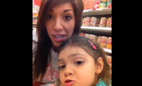 Farrah Abraham Posts Video With Daughter, Pretends to Be Normal Parent
