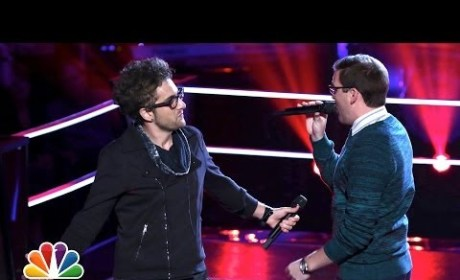 "James Wolpert vs. Will Champlin: ""Radioactive"" - The Voice Battle Round"
