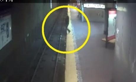 Woman Sleepwalks Off Subway Platform