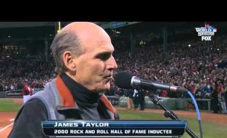 James Taylor Sings Wrong Patriotic Song to Kick Off World Series