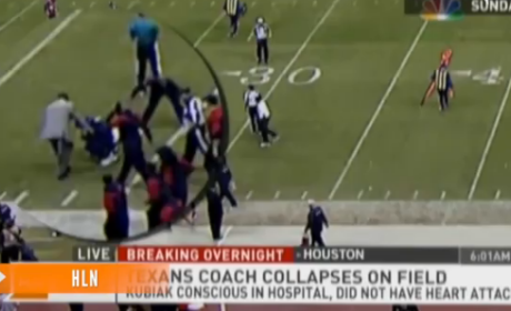 Gary Kubiak Collapses During Houston Texans Game