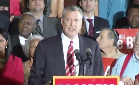 Bill de Blasio Elected Mayor of New York City in Landslide Win