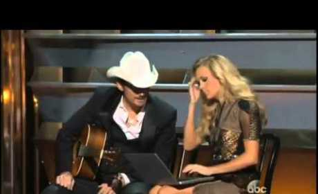 Brad Paisley, Carrie Underwood Rip ObamaCare in CMA Awards Intro