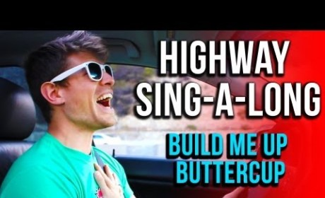 "Awesome Driver Inspires Fellow Motorists with ""Build Me Up Buttercup"""