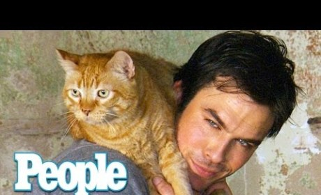 Ian Somerhalder Loves His Cat