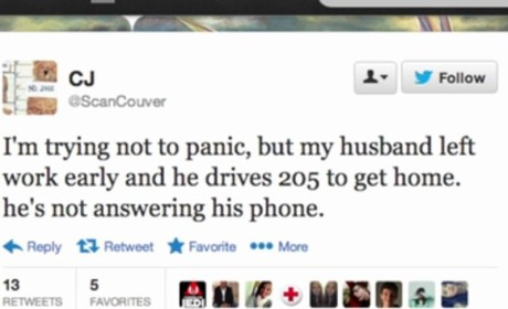 Woman Unknowingly Live Tweets Her Own Husband's Fatal Car Crash