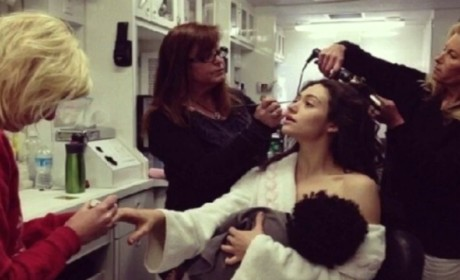 Emmy Rossum Spoofs Gisele Bundchen Breastfeeding