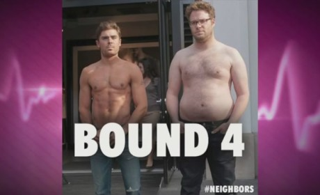 Zac Efron Goes Shirtless with Seth Rogen, Teases Bound 4