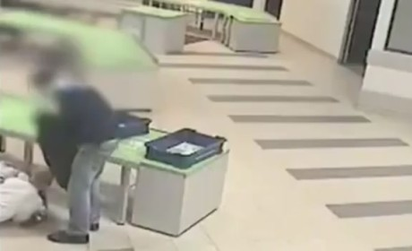 Airport Security Agent Catches Falling Baby