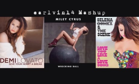 "Selena, Demi and Miley - ""Give Your Heart a Wrecking Love Song"""