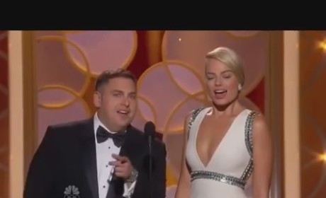 Jonah Hill and Margot Robbie: Teleprompter Flub Alert!