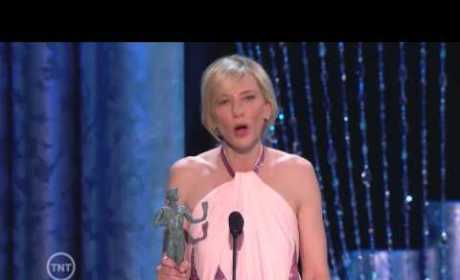 Cate Blanchett Accepts SAG Award, Gets to Third Base with Trophy